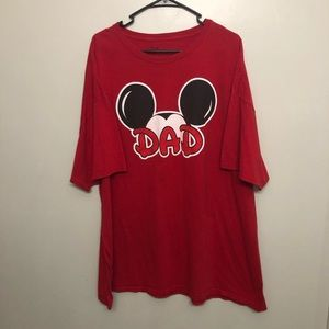 Disney Mickey Mouse dad shirt red 3XL